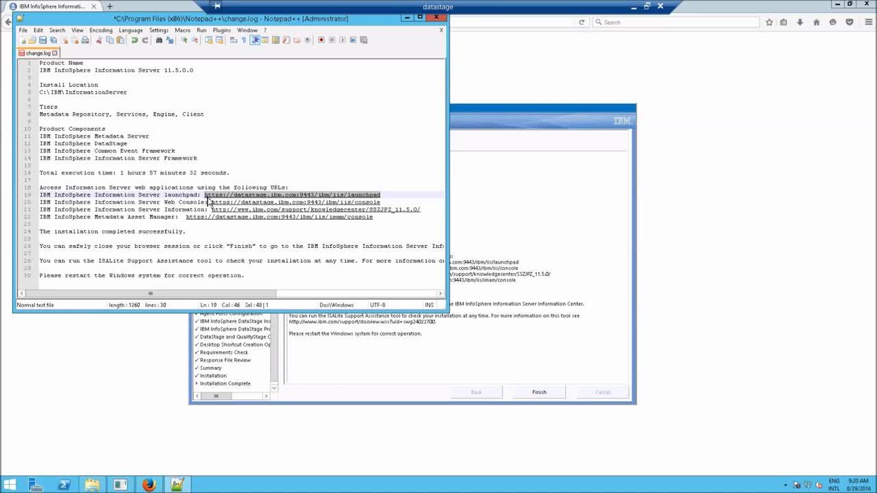 How to install Datastage v11.5 for i2 Enterprise Insight Analysis on Windows 2012-Hji1NuYkxyA