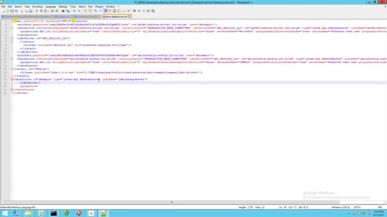 IBM i2 Analyze Connector Creator Guide - The dataSource element-iIoXkFdyCVM
