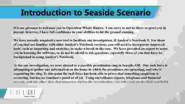 08 Intro to Seaside Scenario